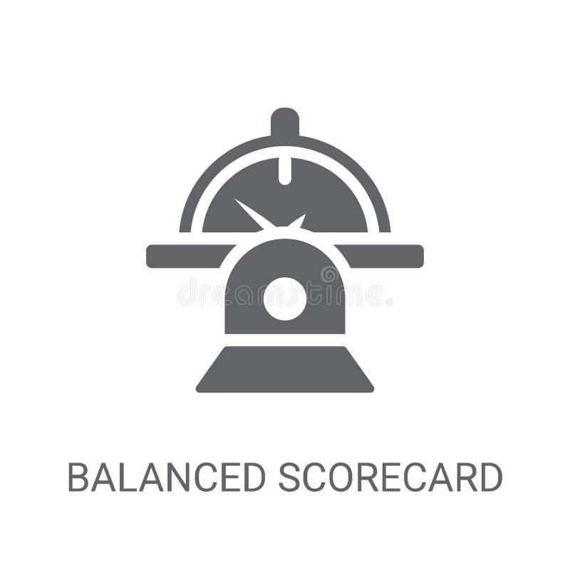 Icono equilibrado de la tarjeta de puntuación Concepto equilibrado de moda del logotipo de la tarjeta de puntuación libre illustration