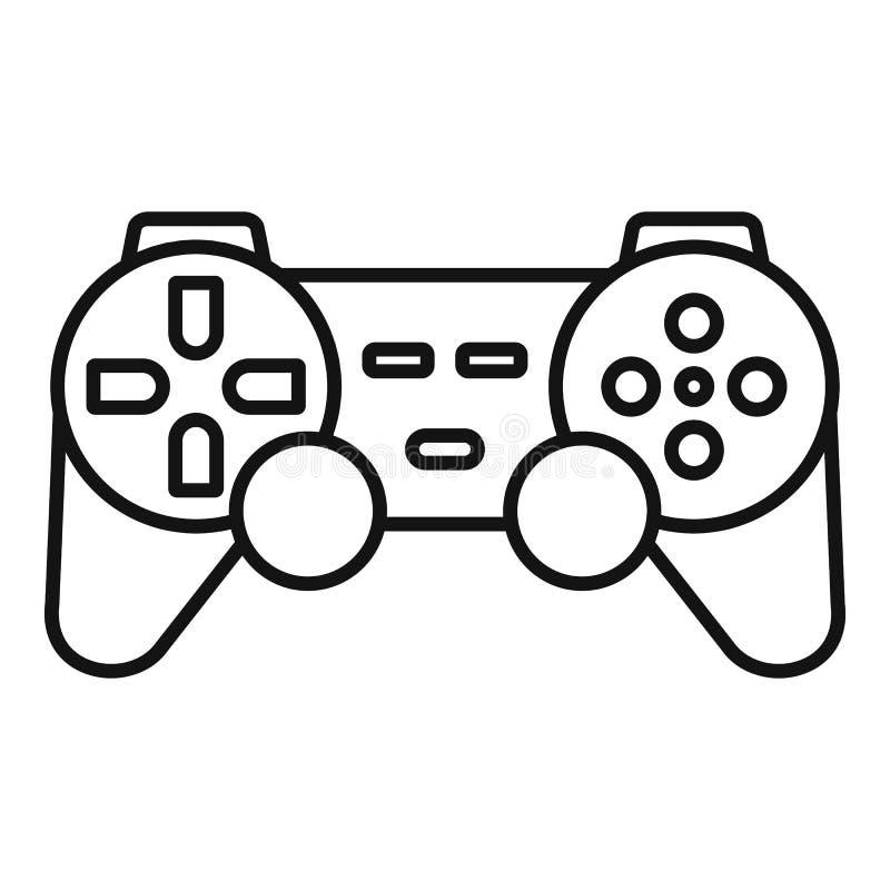 Icono ergonómico de la palanca de mando, estilo del esquema ilustración del vector