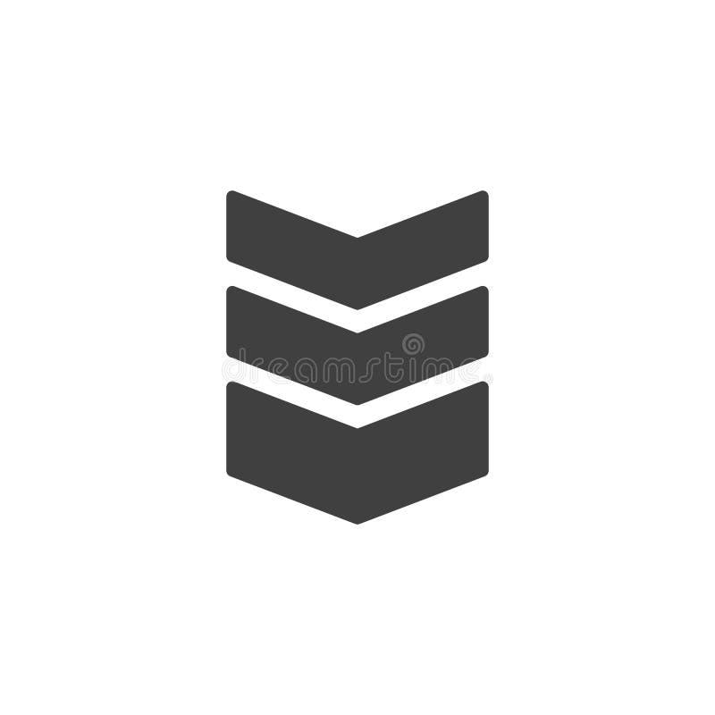 Icono espeso del vector de las correas de hombro libre illustration