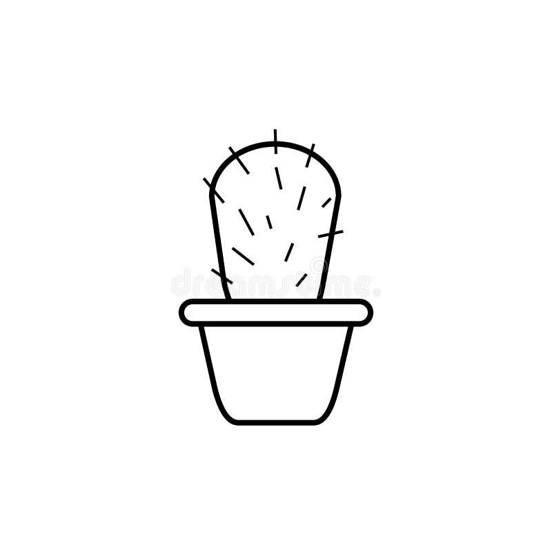 Icono espinoso del vector del cactus, planta ilustración del vector