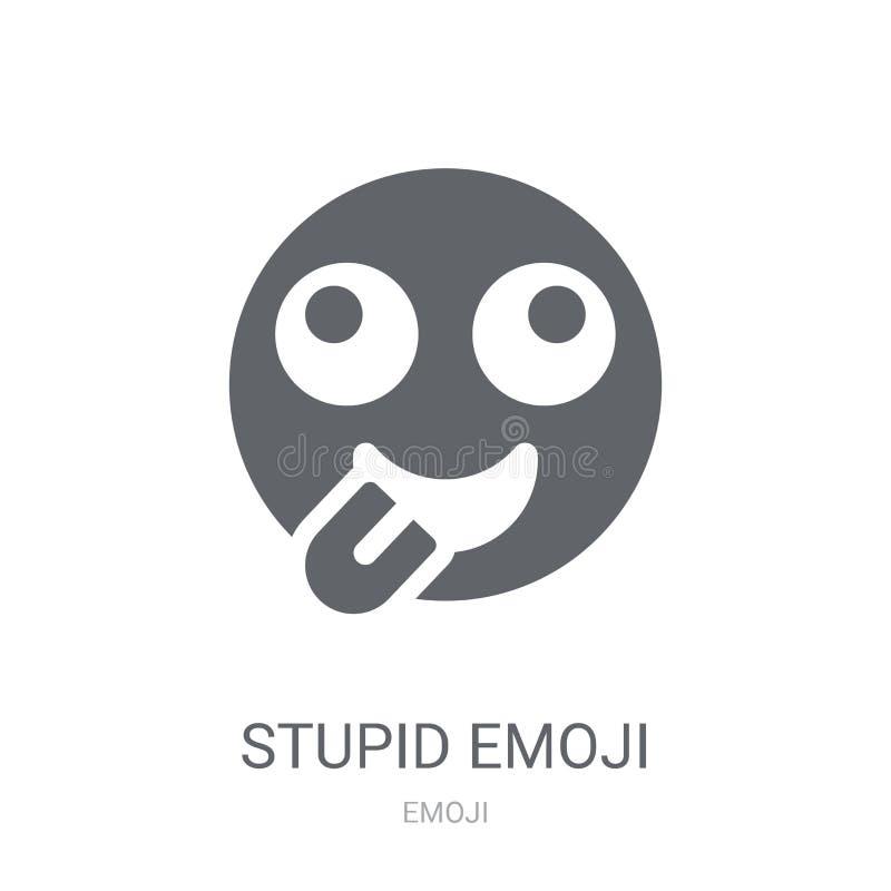 Icono estúpido del emoji  stock de ilustración