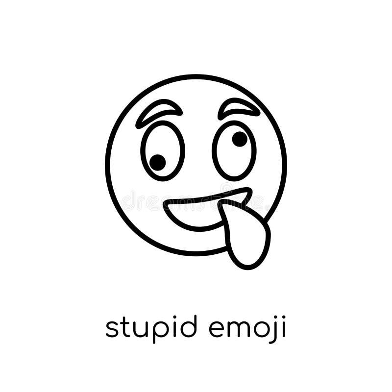 Icono estúpido del emoji de la colección de Emoji ilustración del vector