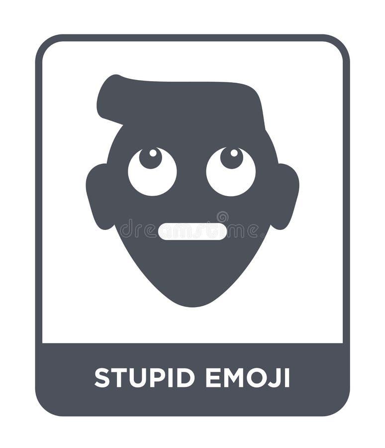 icono estúpido del emoji en estilo de moda del diseño icono estúpido del emoji aislado en el fondo blanco icono estúpido del vect ilustración del vector