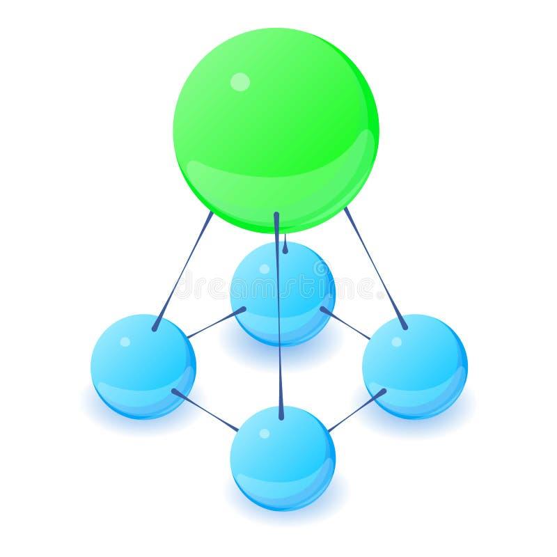 Icono estable de la molécula, estilo isométrico 3d libre illustration