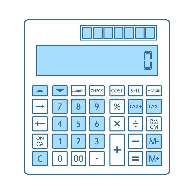 Icono estad?stico de la calculadora stock de ilustración