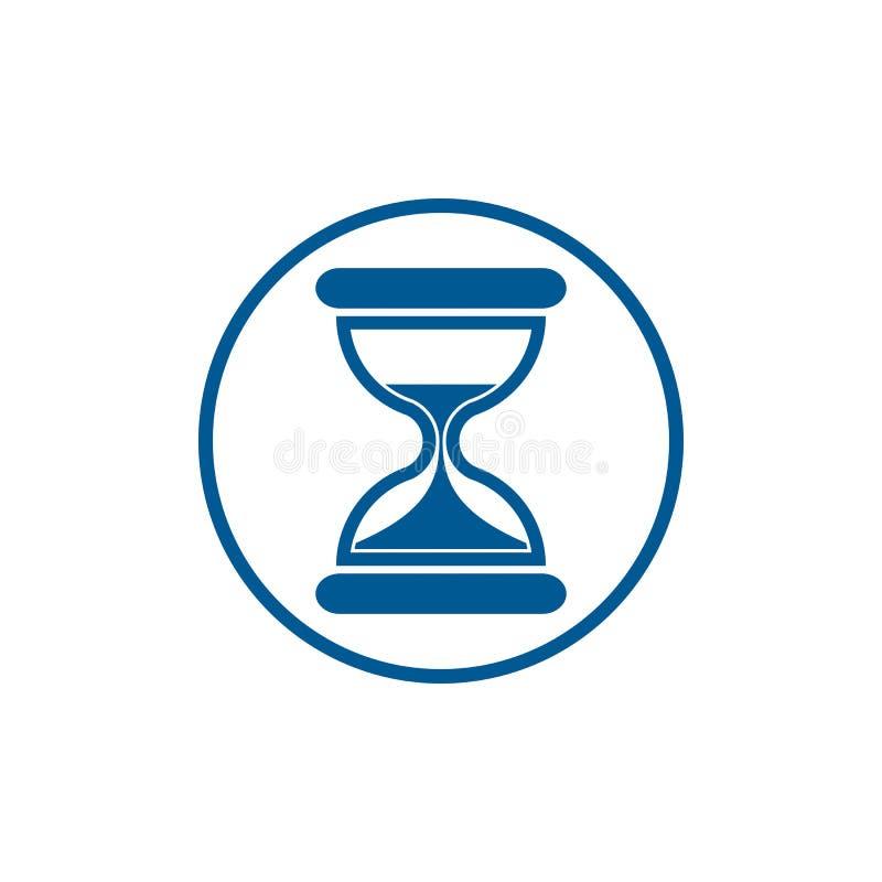 Icono estilizado conceptual del tiempo Reloj de arena pasado de moda aislado libre illustration