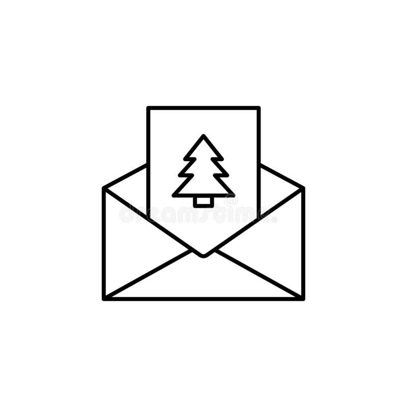 Icono estimada Letter, la Navidad, letra del árbol icono libre illustration