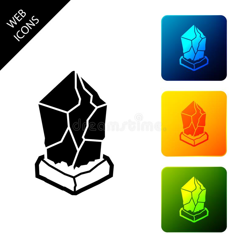Icono Ethereum clásico ETC Moneda de bit física Moneda digital Símbolo Altcoin Basado en cadena de bloqueo stock de ilustración