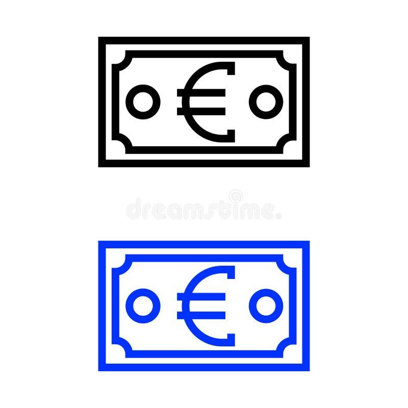 Icono euro de la cuenta libre illustration