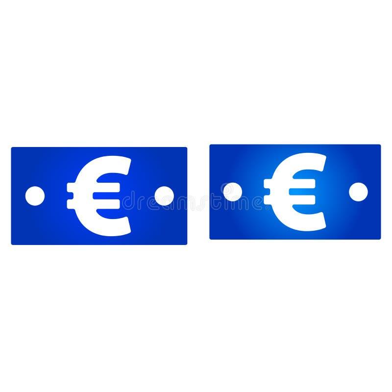 Icono euro de la cuenta ilustración del vector