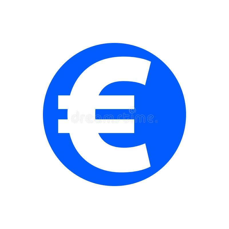 Icono euro del glyph ilustración del vector