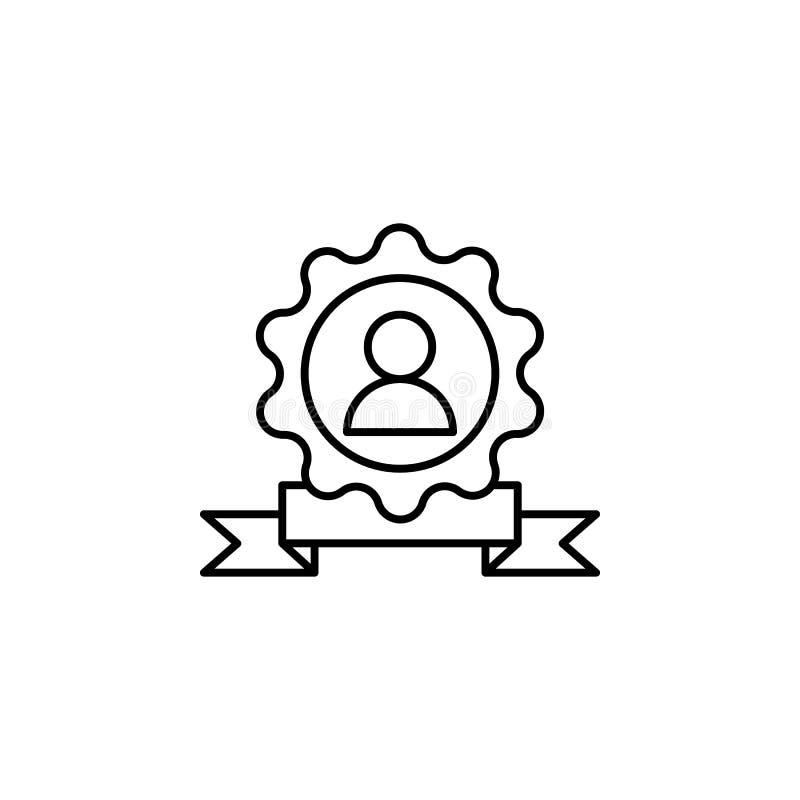 Icono excepcional de la medalla del premio Elemento de la línea icono de la motivación del negocio stock de ilustración