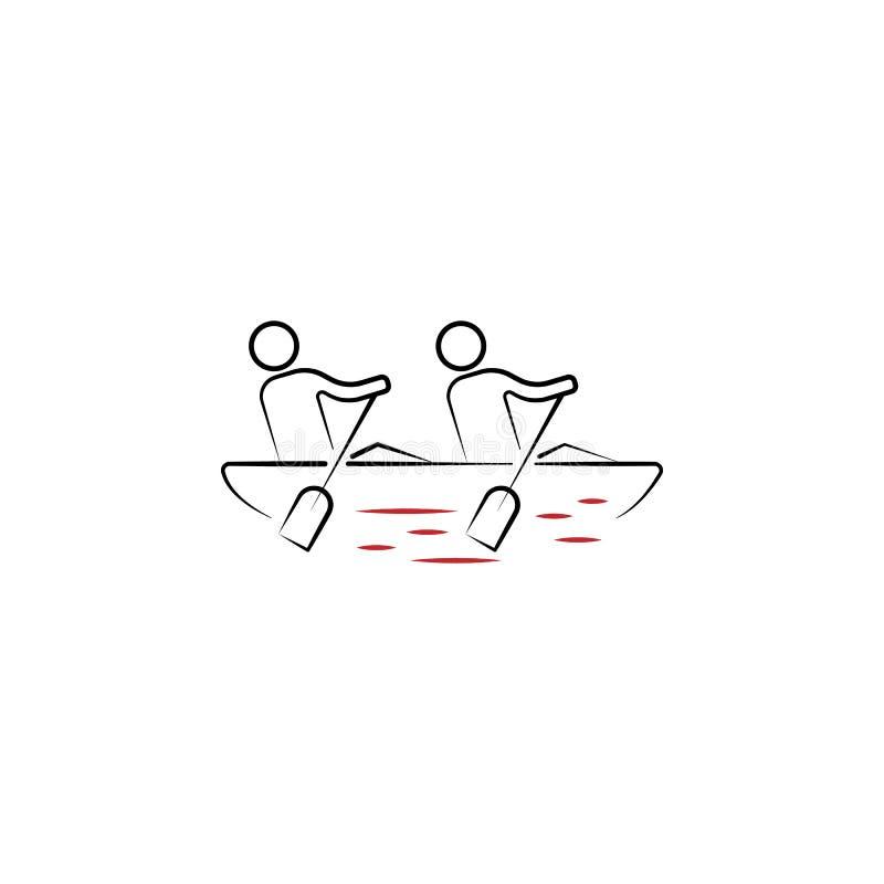 icono exhausto coloreado de la mano del espíritu de equipo 2 Ejemplo del elemento coloreado del equipo Diseño del símbolo del esq ilustración del vector