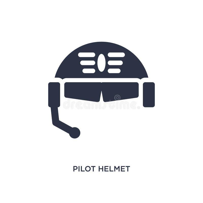 icono experimental del casco en el fondo blanco Ejemplo simple del elemento del concepto del terminal de aeropuerto stock de ilustración