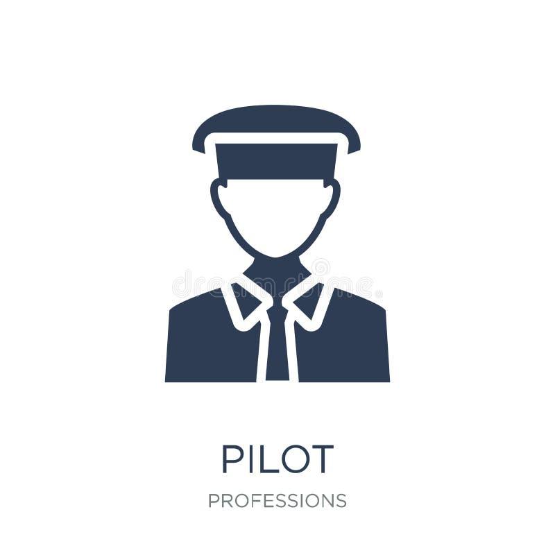 Icono experimental Icono plano de moda del piloto del vector en el fondo blanco franco libre illustration