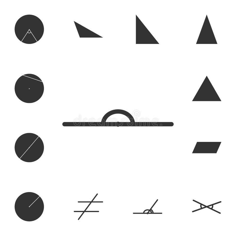 Icono extendido del ángulo Sistema detallado de la figura geométrica Diseño gráfico superior Uno de los iconos de la colección pa ilustración del vector