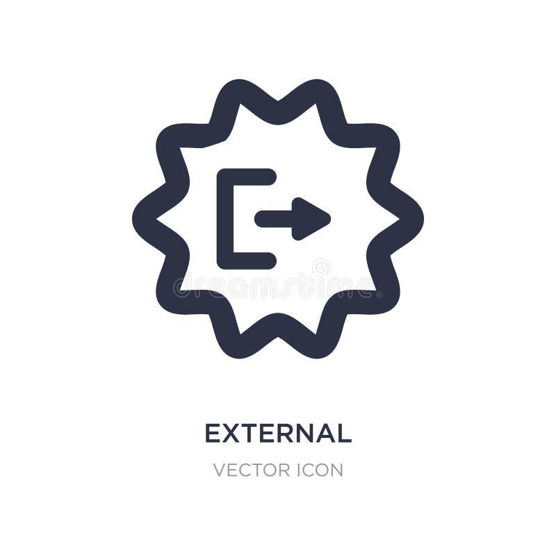 icono externo en el fondo blanco Ejemplo simple del elemento del concepto de UI stock de ilustración