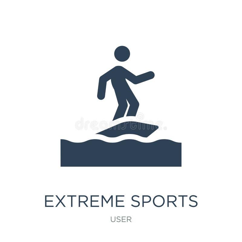 icono extremo de los deportes en estilo de moda del diseño icono extremo de los deportes aislado en el fondo blanco icono extremo stock de ilustración