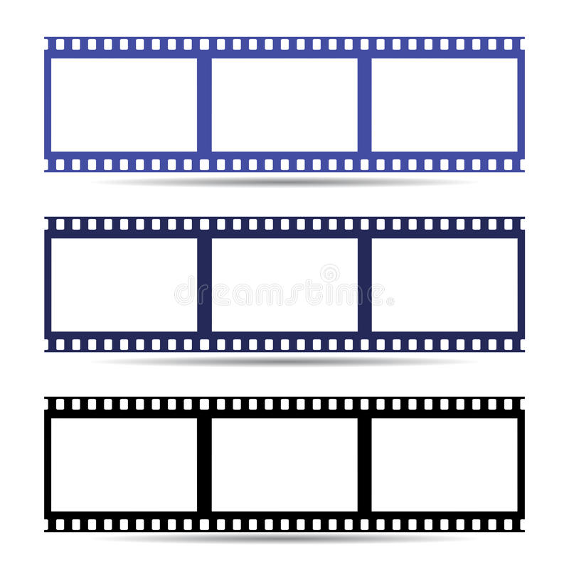 Icono Fácil De La Cinta Del Marco De Película Ilustración Stock de ...