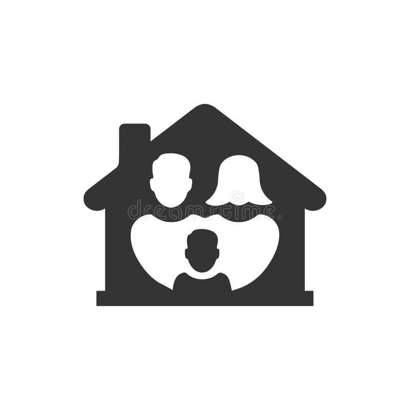 Icono feliz de la familia ilustración del vector