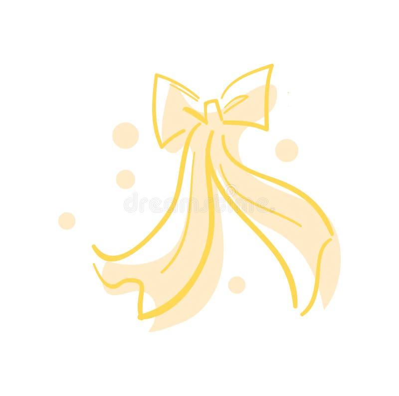 Icono feliz del día de San Valentín con el arco de la cinta libre illustration