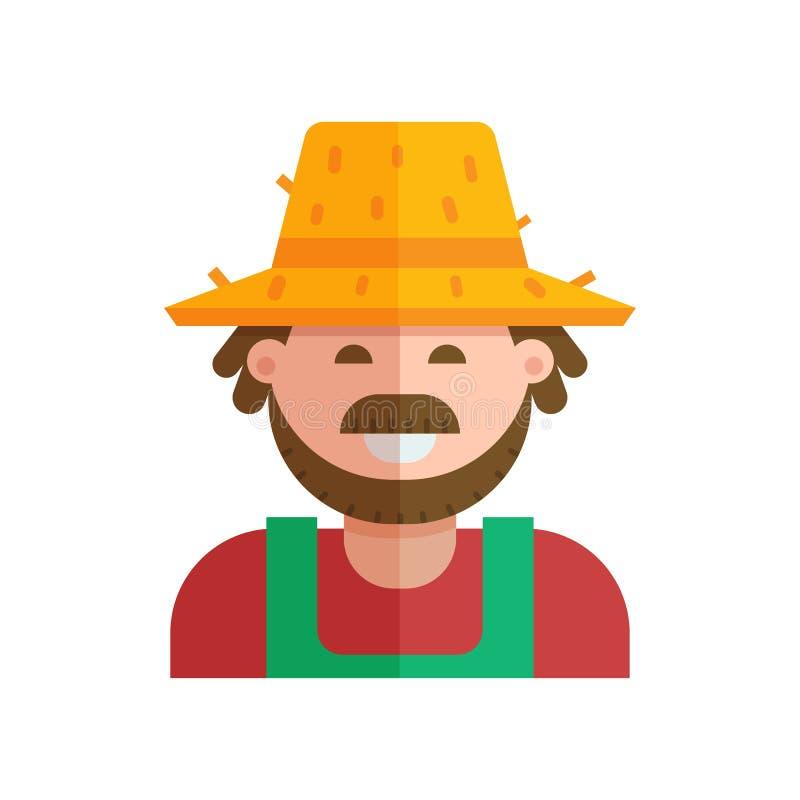 Icono feliz del jardinero ilustración del vector