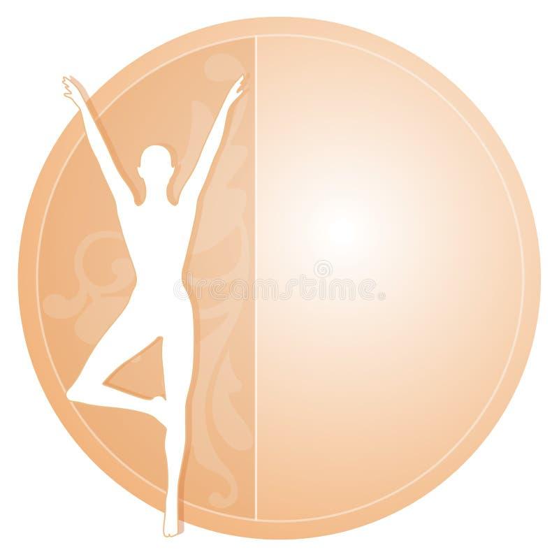 Icono femenino de la silueta de la yoga ilustración del vector