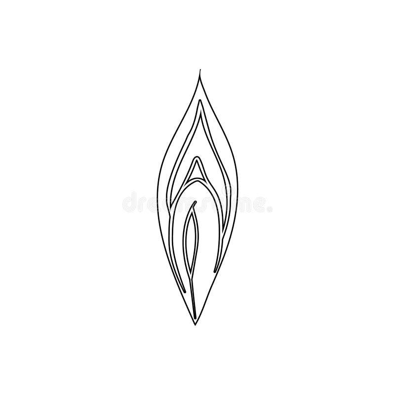 icono femenino de la vagina Elemento de las piezas humanas para el concepto y el icono móviles de los apps de la web Esquema, lín stock de ilustración