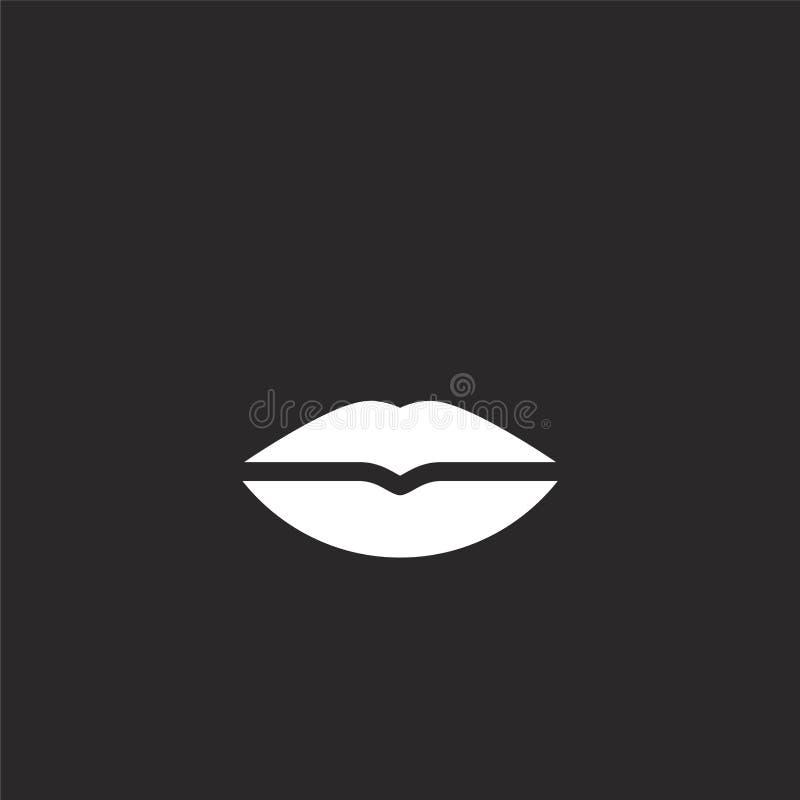 Icono femenino Icono femenino llenado para el diseño y el móvil, desarrollo de la página web del app icono femenino de la colecci stock de ilustración