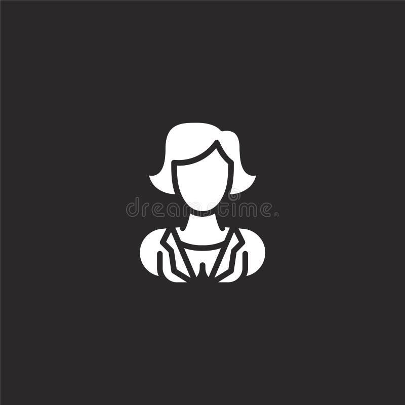Icono femenino Icono femenino llenado para el diseño y el móvil, desarrollo de la página web del app icono femenino de placeholde stock de ilustración