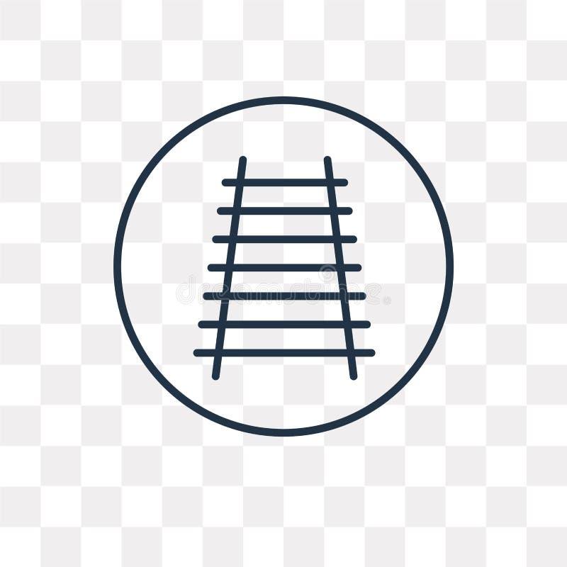 Icono ferroviario del vector aislado en el fondo transparente, R linear libre illustration