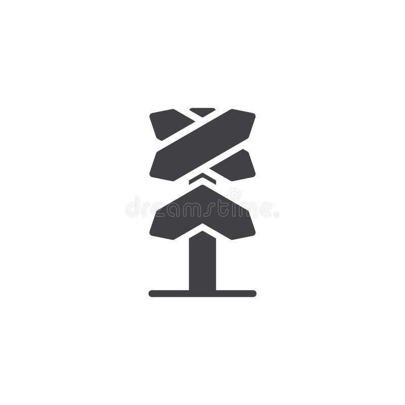 Icono ferroviario del vector del roadsign stock de ilustración