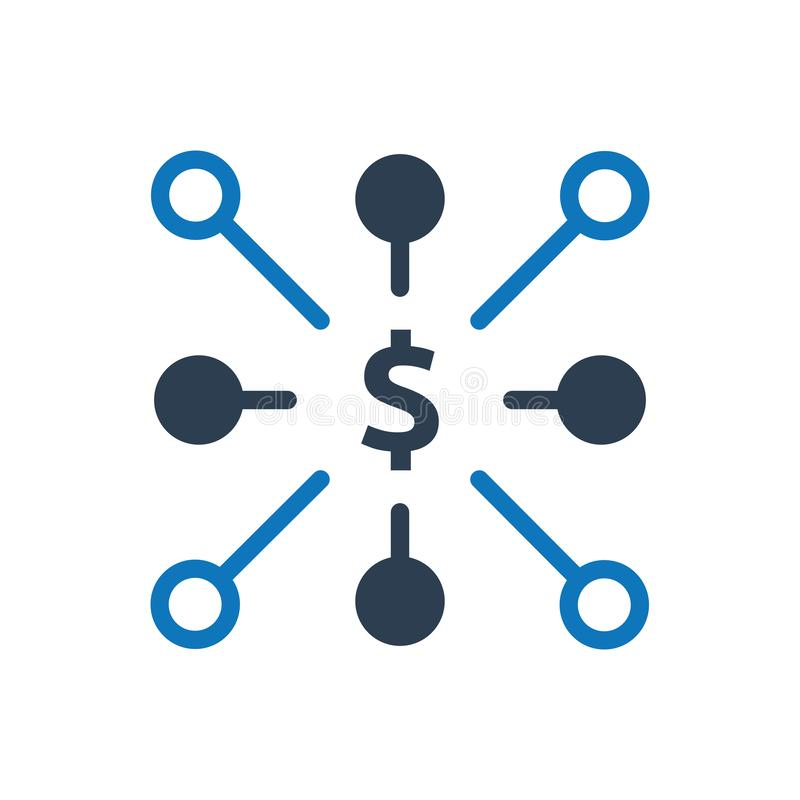 Icono financiero de la red libre illustration