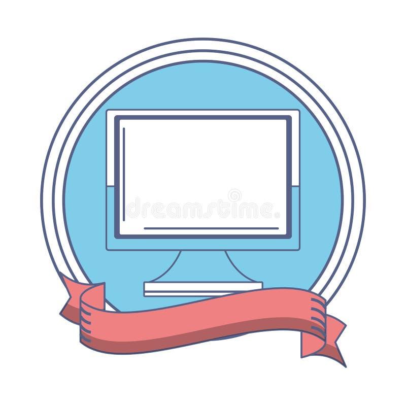 Icono financiero del ordenador ilustración del vector