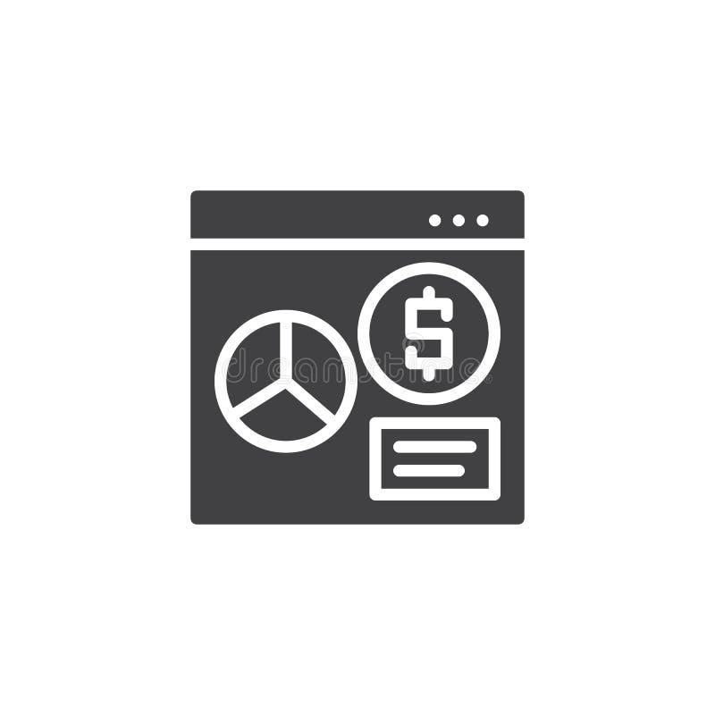 Icono financiero en línea del vector del analytics libre illustration