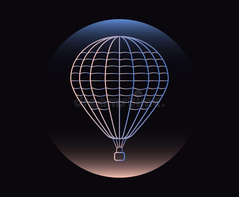 Icono fino de neón moderno del globo en fondo negro libre illustration