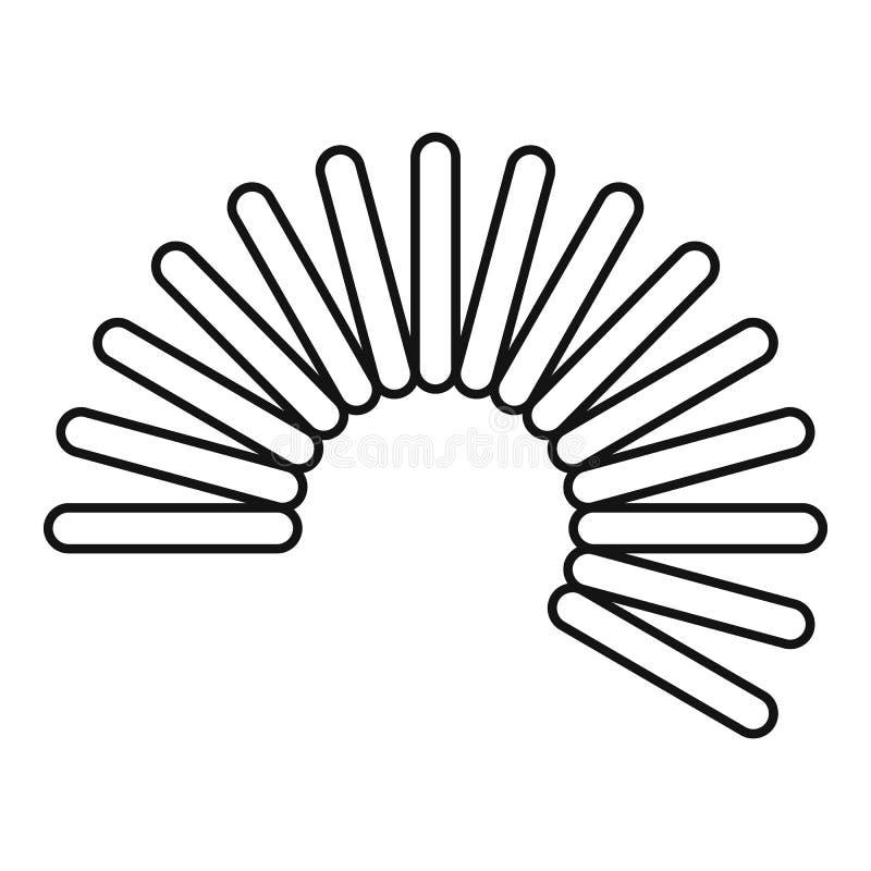 Icono flexible de la bobina del alambre, estilo del esquema stock de ilustración