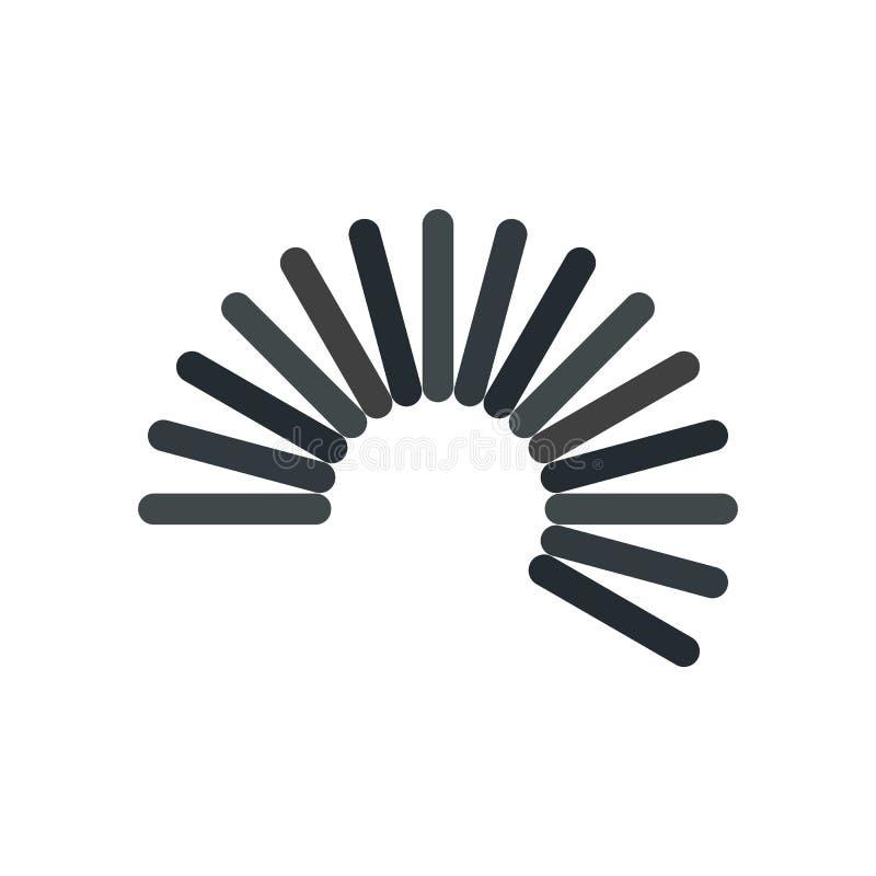 Icono flexible de la bobina del alambre, estilo plano ilustración del vector