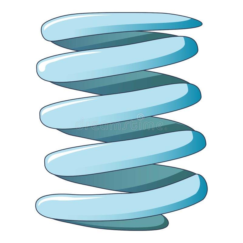 Icono flexible del muelle en espiral, estilo de la historieta stock de ilustración