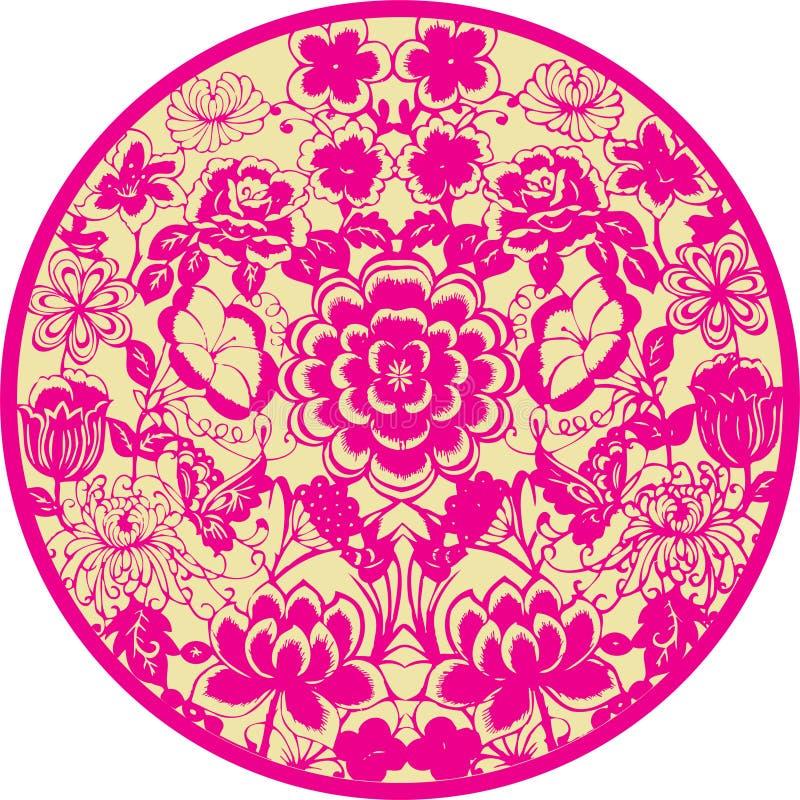 Icono floral ilustración del vector