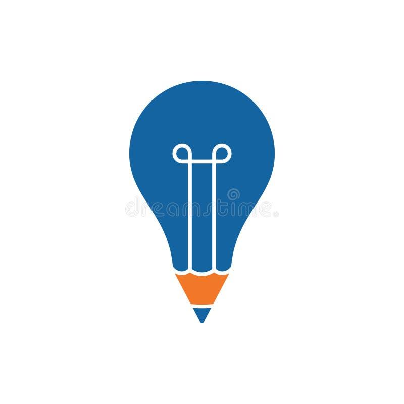 Icono formado bulbo del lápiz libre illustration