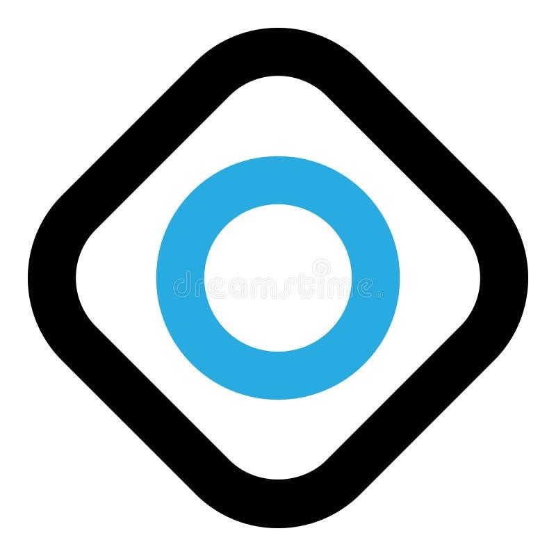 Icono frío de la tableta de la menta, estilo del esquema ilustración del vector