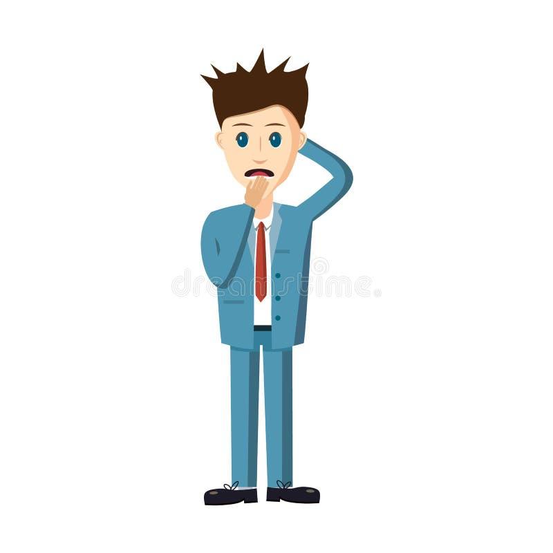 Icono fracasado del hombre de negocios, estilo de la historieta libre illustration