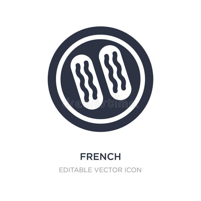 icono francés en el fondo blanco Ejemplo simple del elemento del concepto de la comida libre illustration
