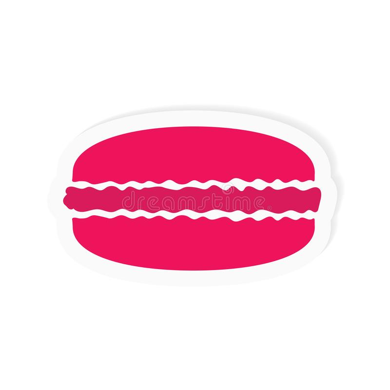 Icono francés rosado de los macarrones stock de ilustración
