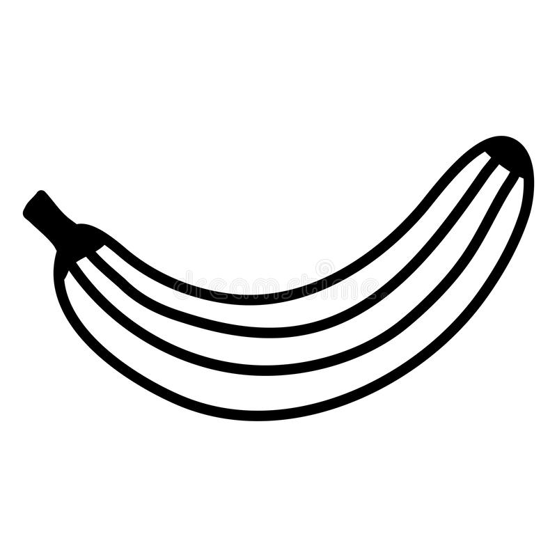 Icono fresco de la fruta fresca del plátano libre illustration