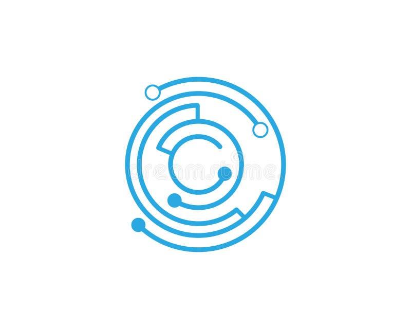 Icono futuro del vector de la tecnología del circuito libre illustration