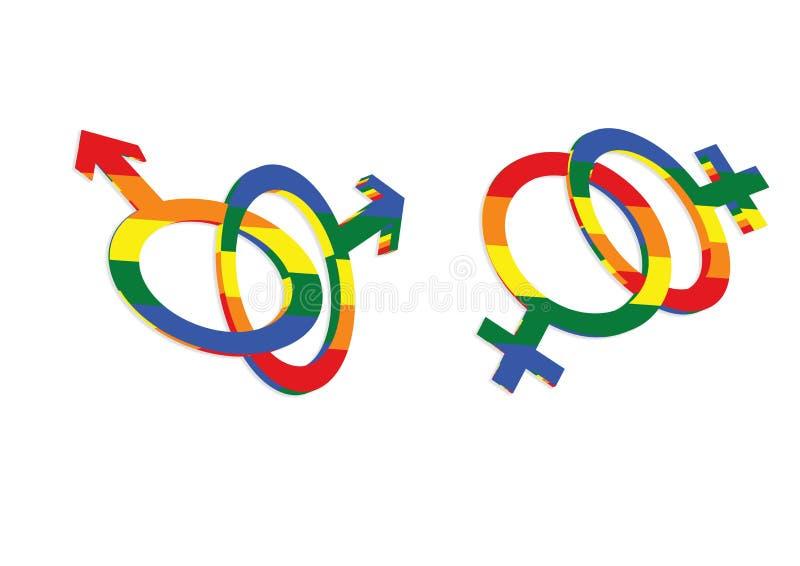 Icono gay de los sex symbol del amor stock de ilustración