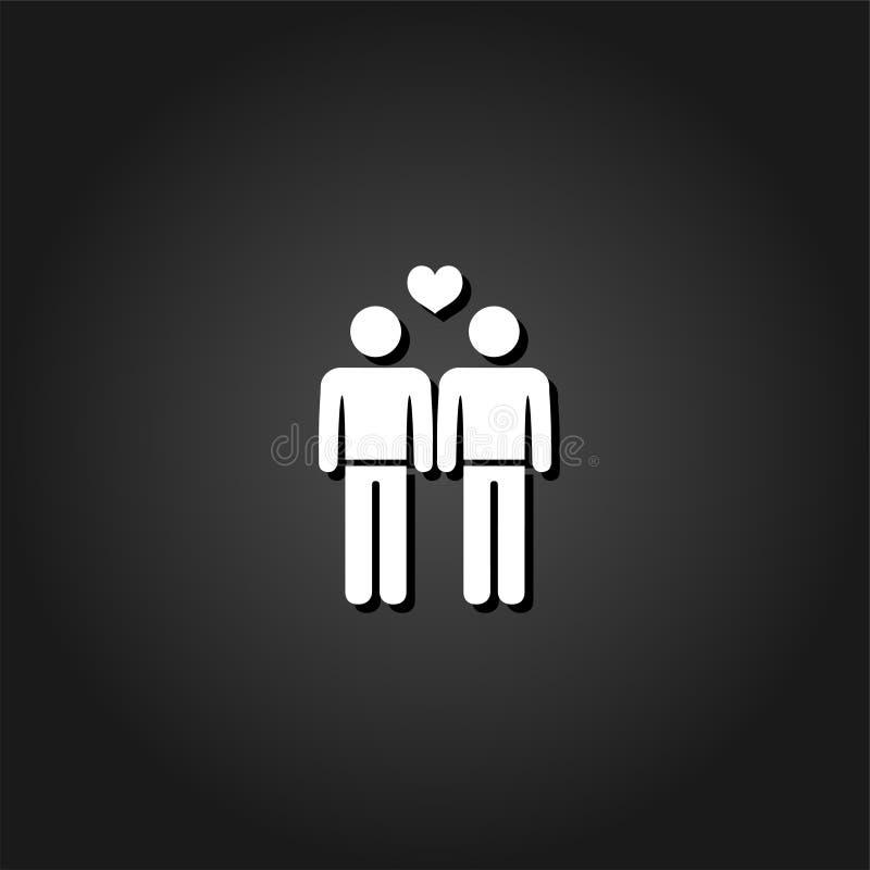 Icono gay plano ilustración del vector
