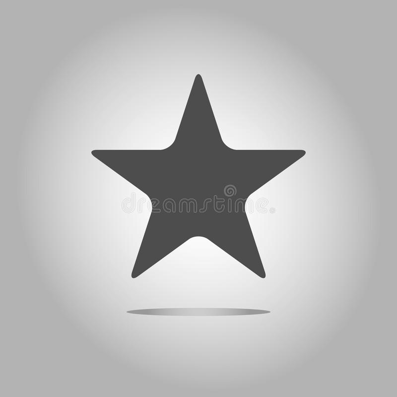icono geométrico de la estrella Estilo moderno Ilustración del vector Símbolo simple de logros y de victorias Símbolo para el des ilustración del vector